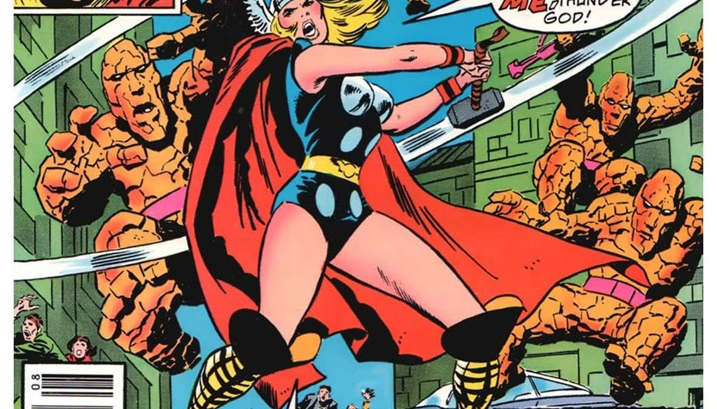 Thor's love interest, Jane Foster, wields the iconic hammer in a 1978 alternate storyline.