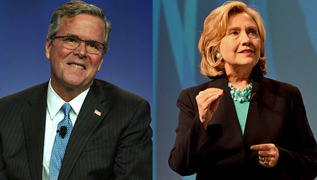 Jeb Bush and Hillary Clinton will both appear at the National Urban League conference in Fort Lauderdale July 31, 2015. (Getty images)