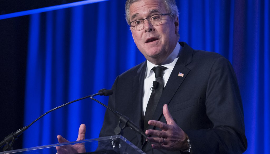 Former Florida Gov. Jeb Bush said the economy is so bad, you can't pull yourself up by your bootstraps nearly as easily as other developed countries. (AP photo)