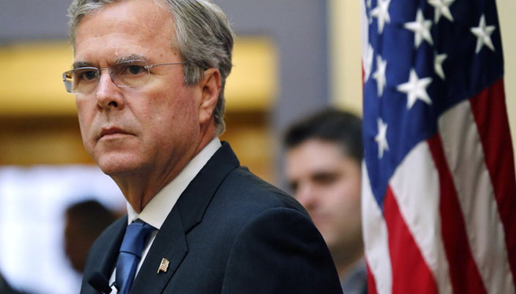 Former Florida Gov. Jeb Bush at a campaign stop in Manchester, N.H., on Dec. 8, 2015. (AP photo)