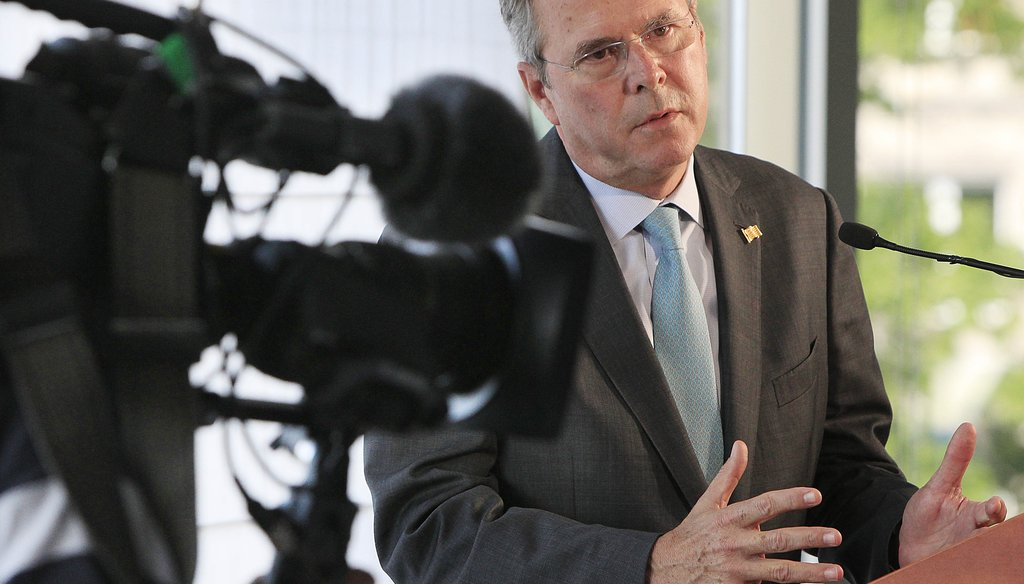 Former Florida Gov. Jeb Bush is expected to announce his run for the Republican nomination for president after an international tour that included a press conference in Warsaw, Poland. AP photo.