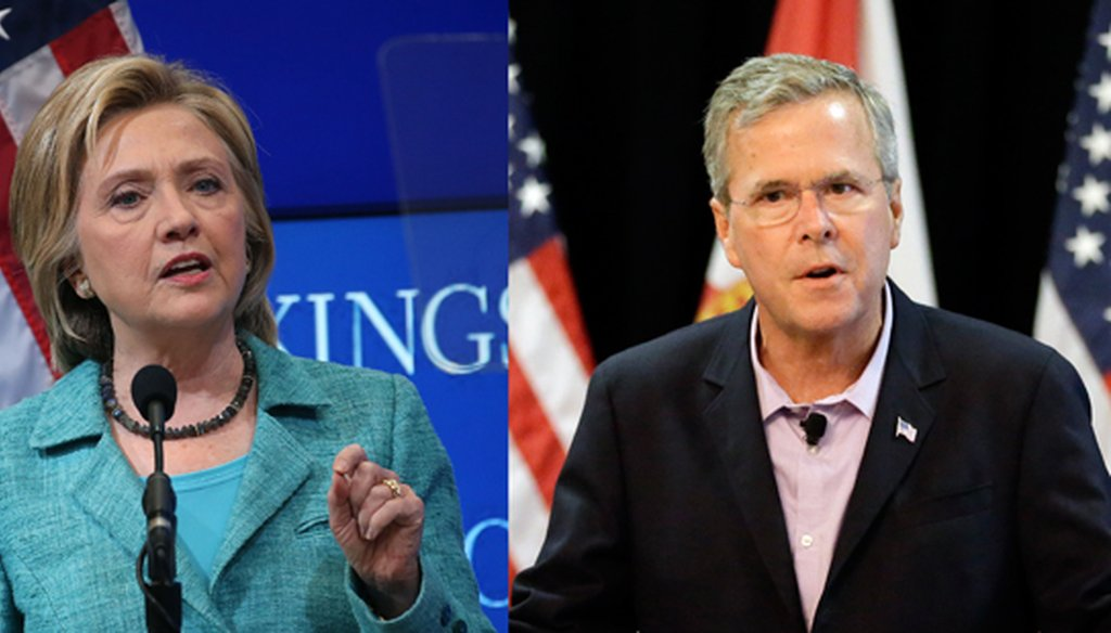 Hillary Clinton and Jeb Bush are already attacking each other like presumptive nominees, and Florida is one of the main battlegrounds. (Getty Images, AP)