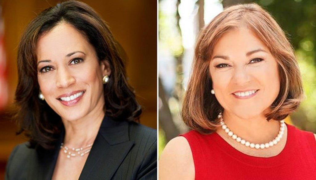 California's candidates for U.S. Senate: Kamala Harris and Loretta Sanchez