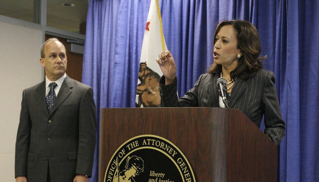 U.S. Sen. Kamala Harris, D-Calif., served as California attorney general from 2011 through 2016, and before that as San Francisco district attorney. Associated Press file photo.