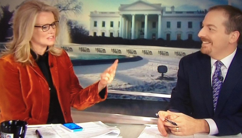 "Katty Kay with Chuck Todd on NBC's ""Meet the Press,"" Feb. 8, 2015."