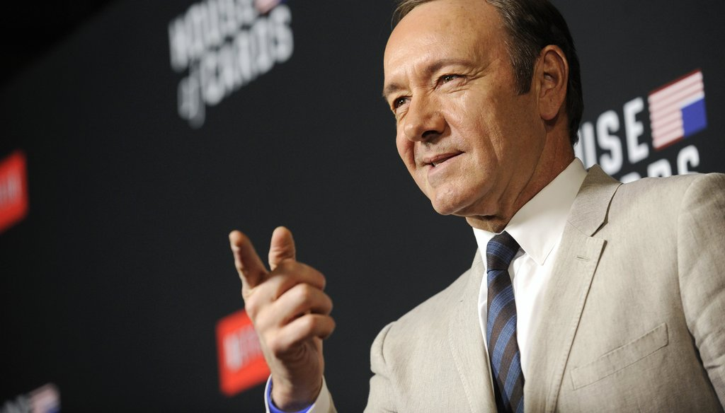 "'House of Cards' star Kevin Spacey sits down with ABC's ""This Week"" Sunday. (Associated Press)"