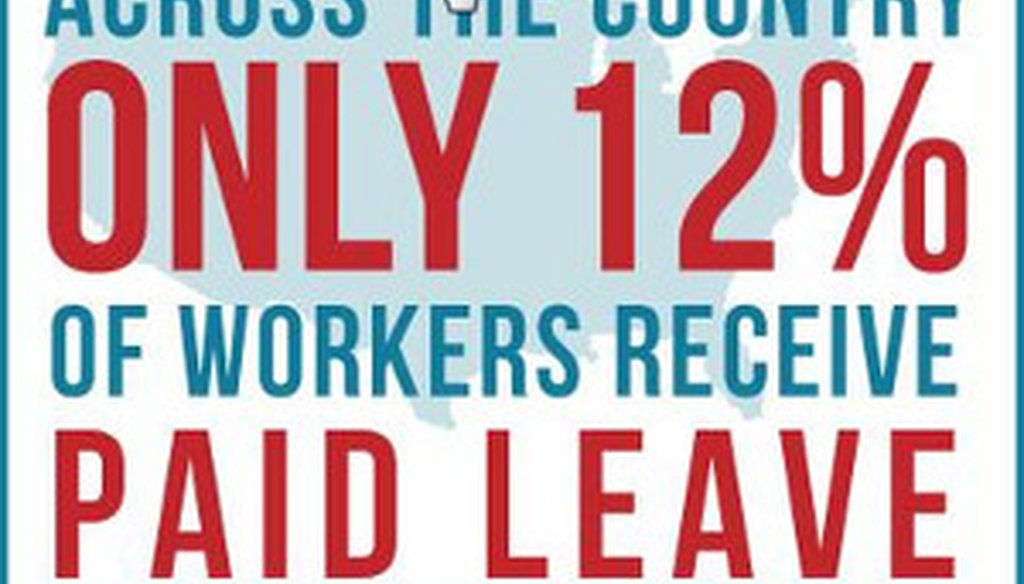 Moms Rising, a group that supports paid parental leave, tweeted this image to its followers.