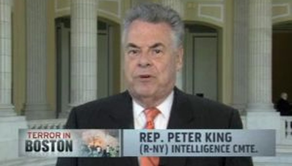 Rep. Peter King, R-N.Y., said there's a pattern of U.S. officials looking into people who later become terrorists without stopping them. How accurate is that charge?