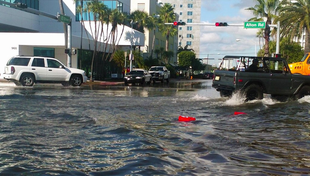 King Tide floods some Miami Beach streets -- as it did here in 2013. (WLRN)
