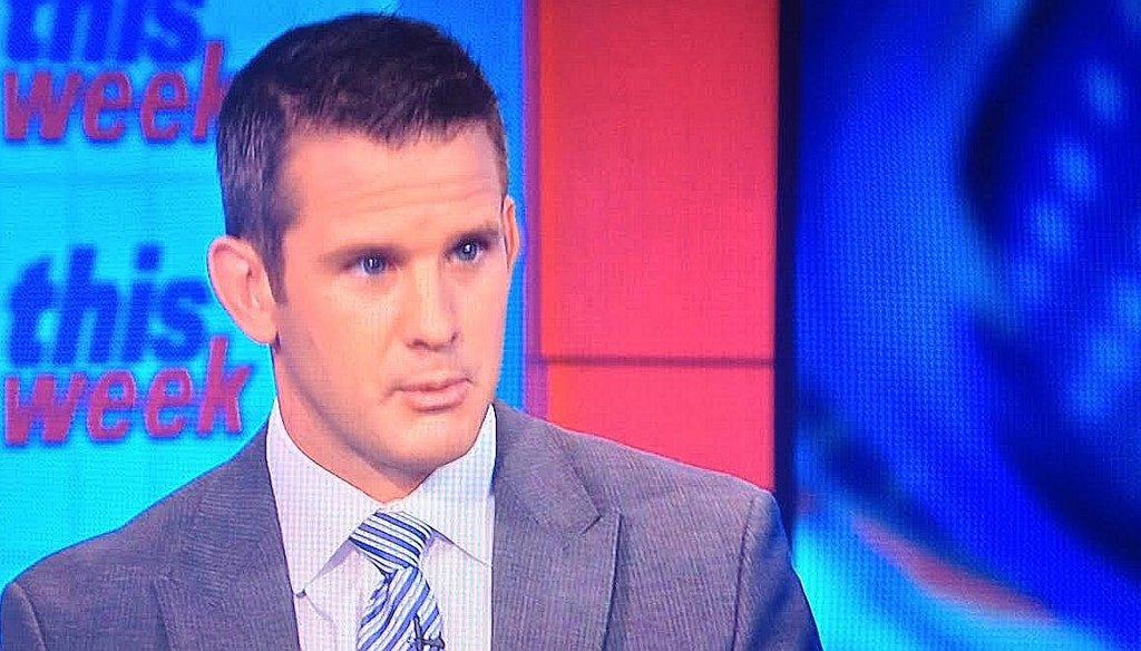 "Rep. Adam Kinzinger, R-Ill., on ABC's ""This Week"" Oct. 26, 2014."