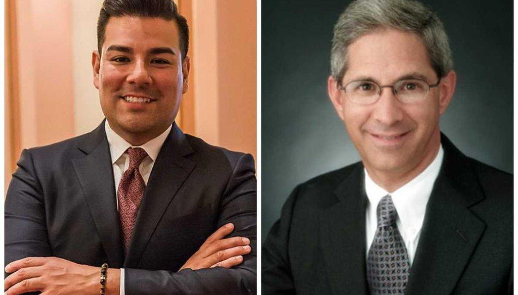 Ricardo Lara (left) and Steve Poizner are running for California Insurance Commissioner.