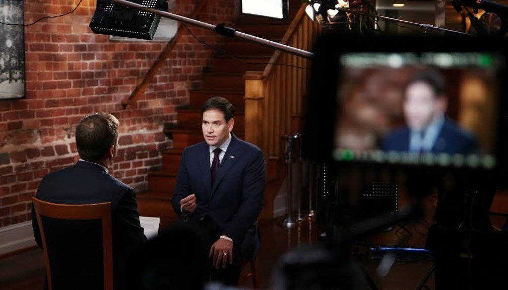 """Sen. Marco Rubio, R-Fla., sits down with NBC's Chuck Todd in an interview that aired Dec. 13, 2015, on """"Meet the Press."""" (NBC News)"""