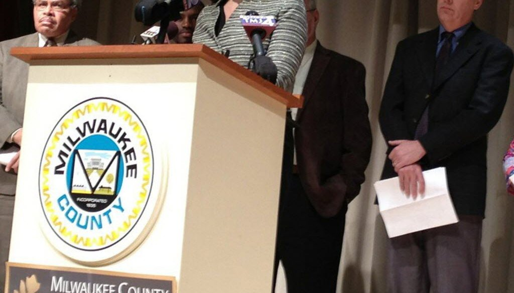 Milwaukee County Board Chairwoman Marina Dimitrijevic announced a new county reform plan in February 2013