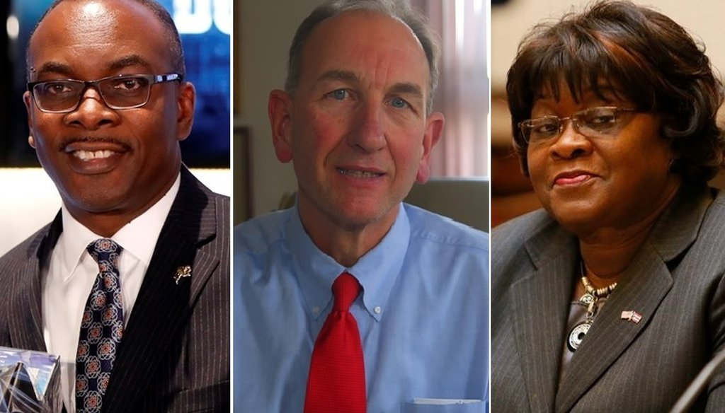 Mayor Byron Brown, Buffalo Comptroller Mark Schroeder and Erie County Legislator Betty Jean Grant are competing to be the Democratic nominee for Buffalo mayor this year. (Buffalo News)