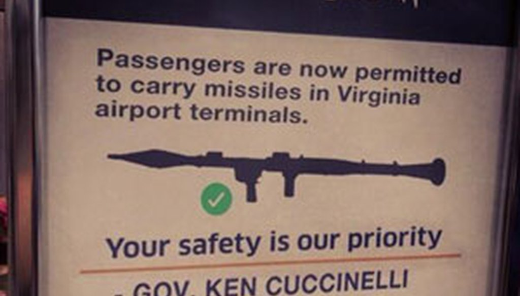 McAuliffe's campaign created and tweeted this misleading sign.