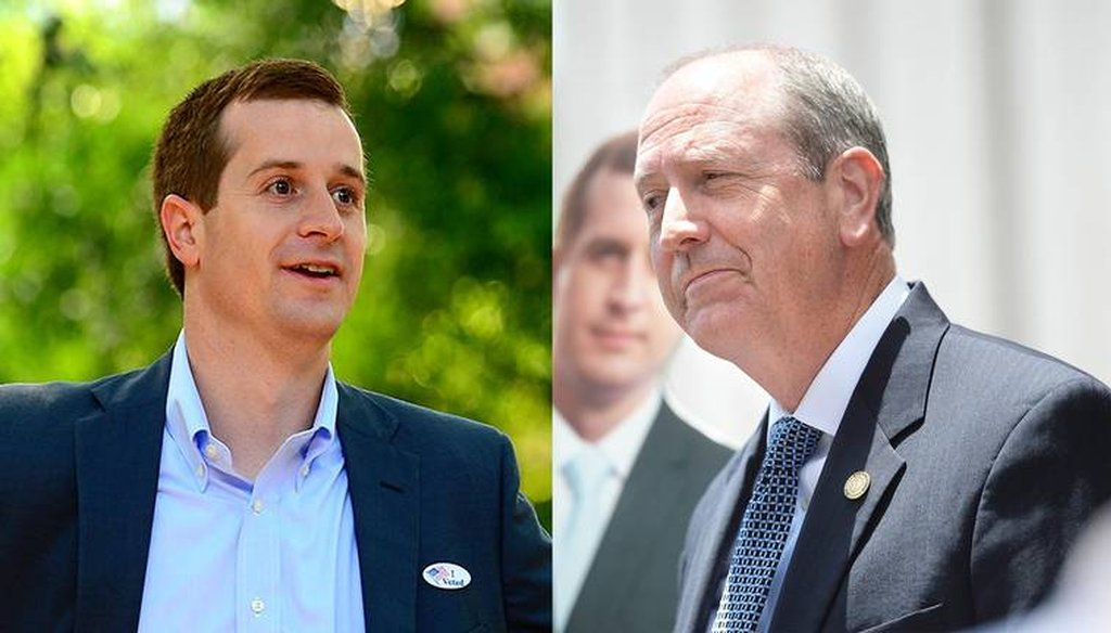 Democrat Dan McCready, left, and Republican Dan Bishop (CHARLOTTE OBSERVER PHOTO)
