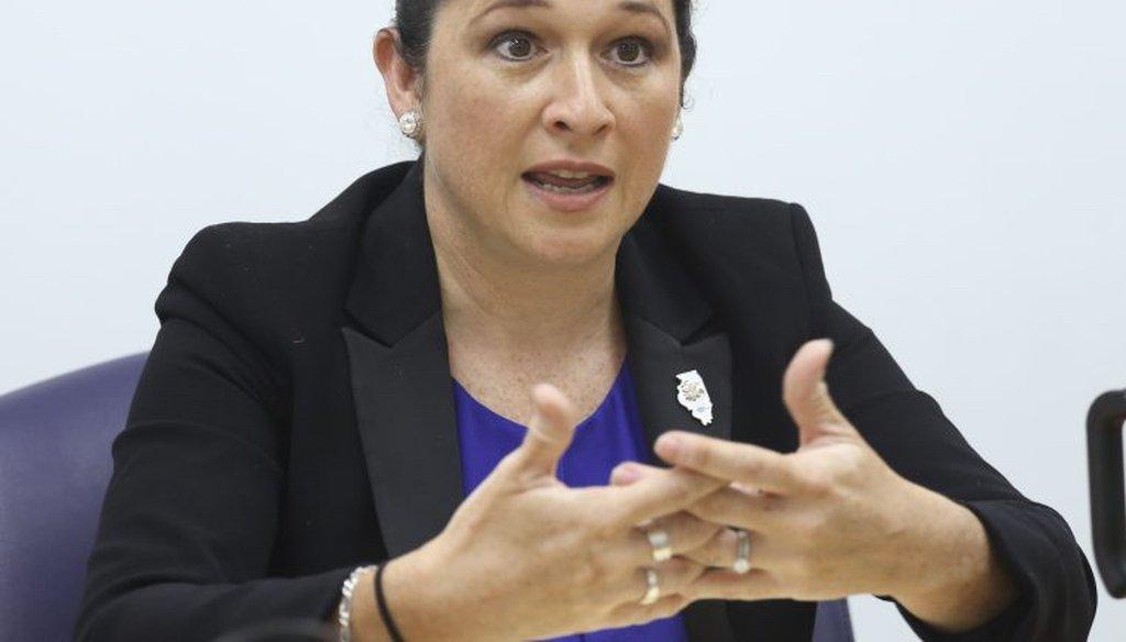 Illinois Comptroller Susana Mendoza. (Rich Hein / Sun-Times)