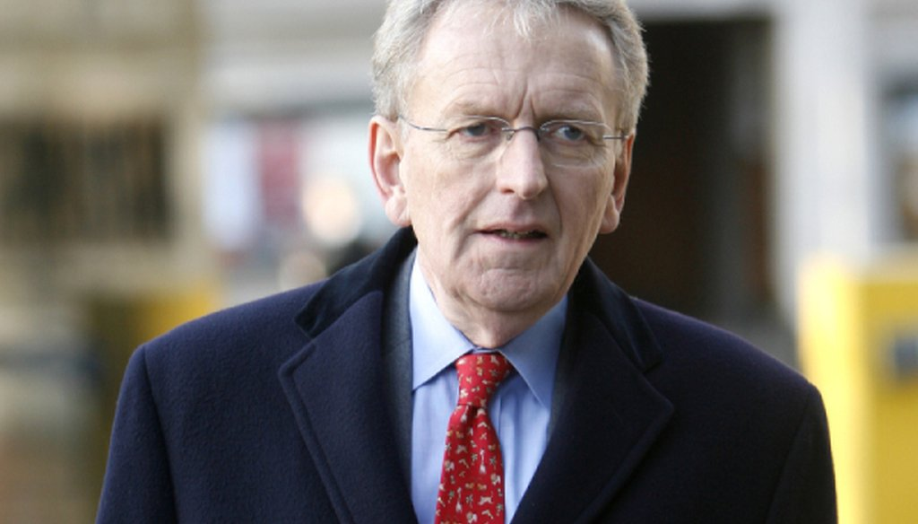 Christopher Meyer, former British Ambassador to the U. S., arrives for the Iraq war inquiry in London, Thursday, Nov. 26, 2009.