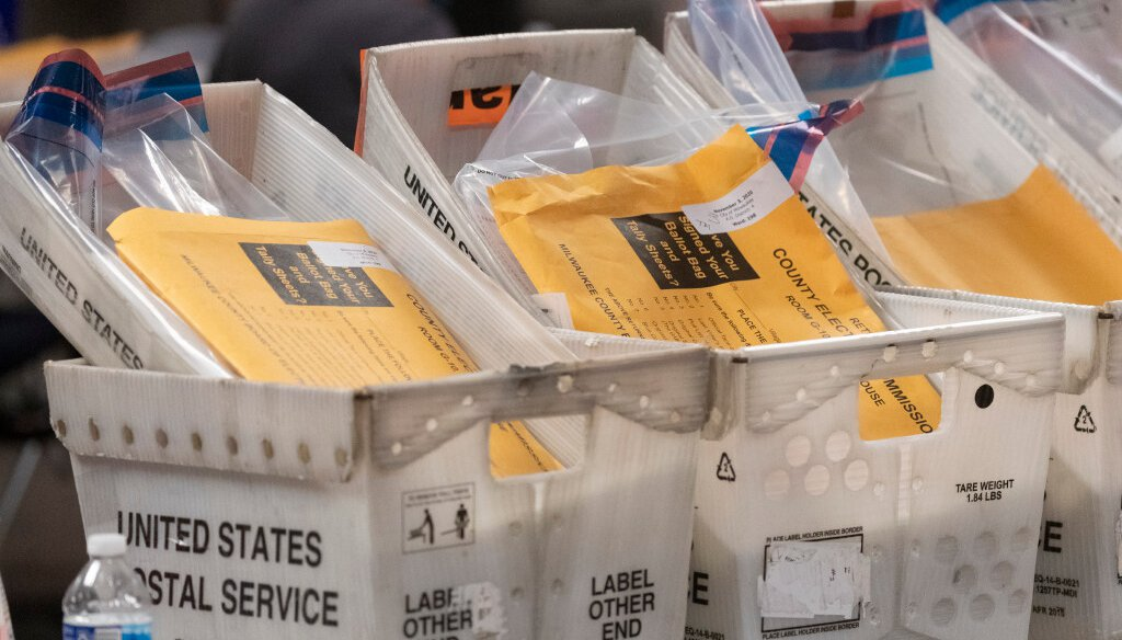 Ballots await processing Nov. 3 at the City of Milwaukee Central Count Facility (Mark Hoffman/Milwaukee Journal Sentinel).