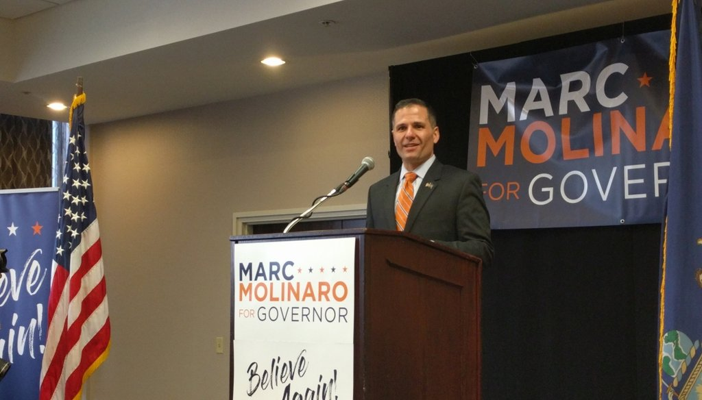 Dutchess County Executive Marcus Molinaro, a Republican candidate for governor, claimed New York residents have among the highest tax burdens in the country. (Photo: Dan Clark)