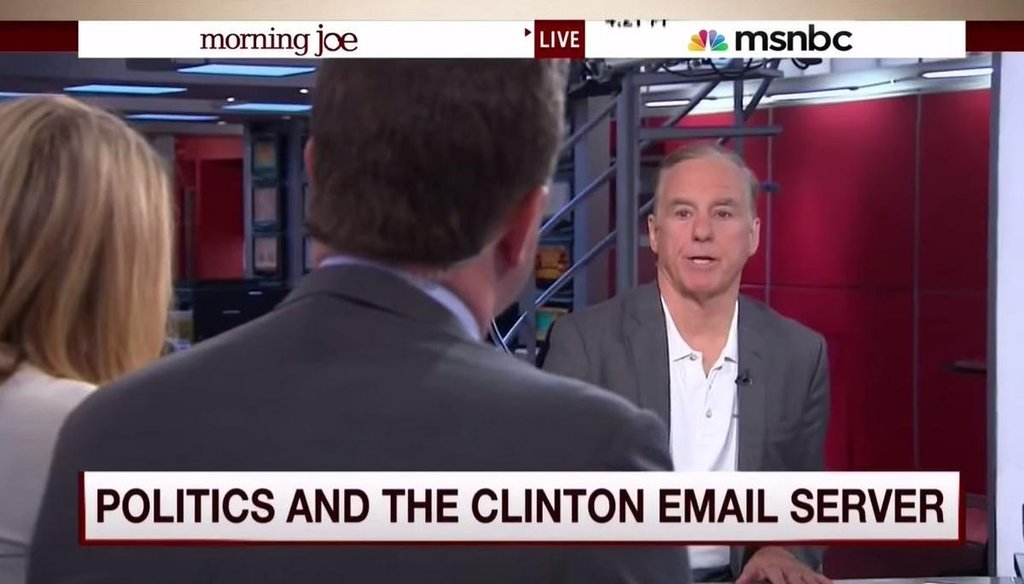 Former DNC chairman Howard Dean defends Hillary Clinton's email use on 'Morning Joe' on Aug. 12, 2015. (Screenshot)