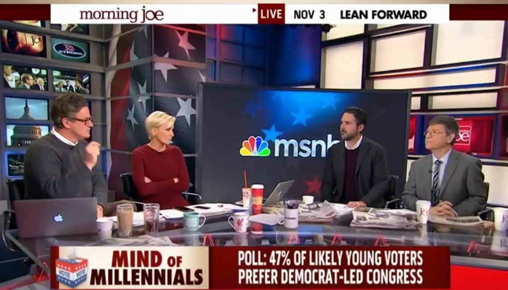 "MSNBC ""Morning Joe"" host Joe Scarborough tussled with guest Jeffrey Sachs about which side spent more money in the 2014 midterms."