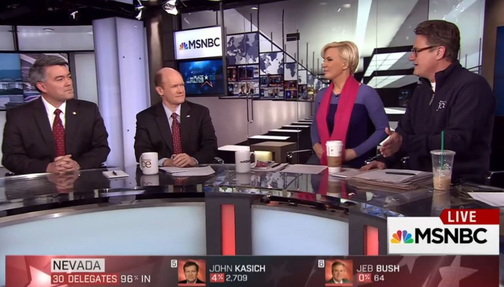 """Sen. Cory Gardner, R-Colo., and Sen. Chris Coons, D-Del., appear on """"Morning Joe"""" to talk about President Barack Obama and Guantanamo."""