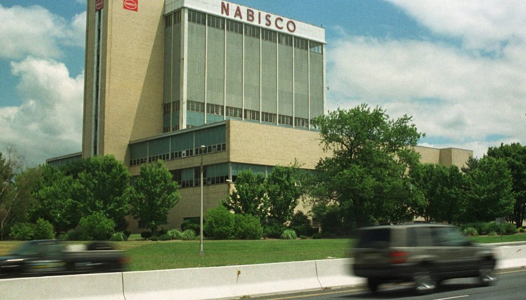 Mondelez International said Feb. 4, 2021, that it plans to close its Nabisco bakery in Fair Lawn, N.J., shown in this 1998 file photo. (AP)