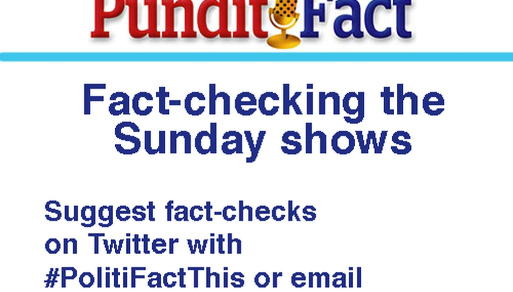 Watch the Sunday shows with PunditFact.
