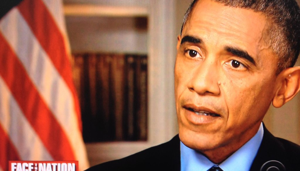 "President Barack Obama appeared on CBS' ""Face the Nation"" on Nov. 9, 2014."