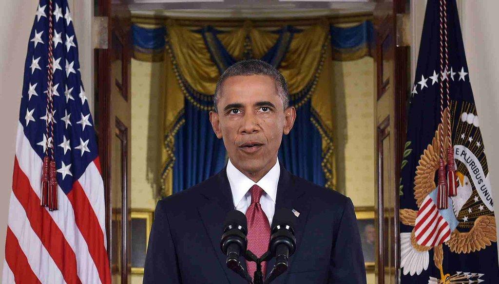 President Barack Obama addressed the nation on Sept. 10, 2014. (AP Photo)