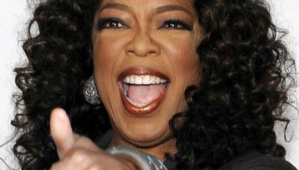 """Oprah Winfrey is the only African-American billionaire from the United States, according to """"Forbes."""""""