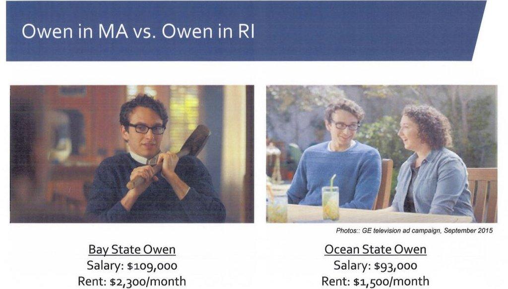 "The ""Owen"" page in Gov. Raimondo's presentation to GE."