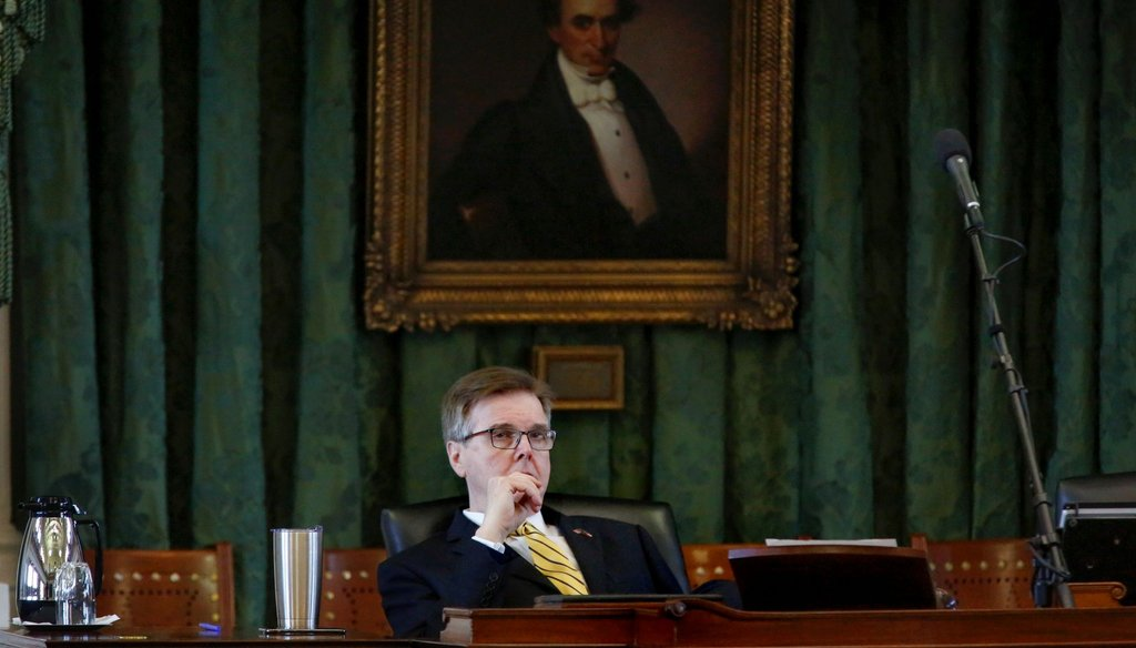 Texas Lt. Gov. Dan Patrick was sworn into office in 2015. Previously he served as a state senator.  [JAMES GREGG/AMERICAN-STATESMAN]