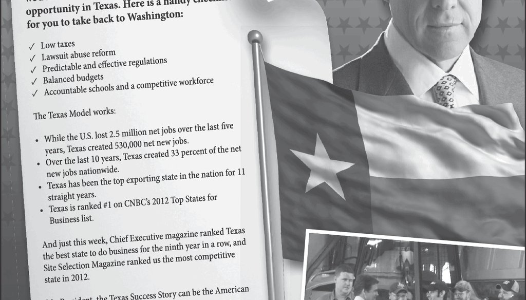 Gov. Rick Perry ran this advertisement in the Austin American-Statesman on May 9, 2013, to welcome President Barack Obama to town.