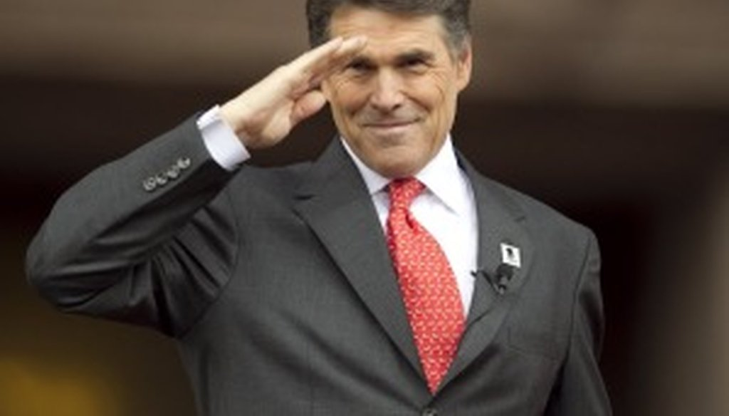 Gov. Rick Perry delivered his inaugural speech on Jan. 18. Photo by Jay Janner/Austin American-Statesman