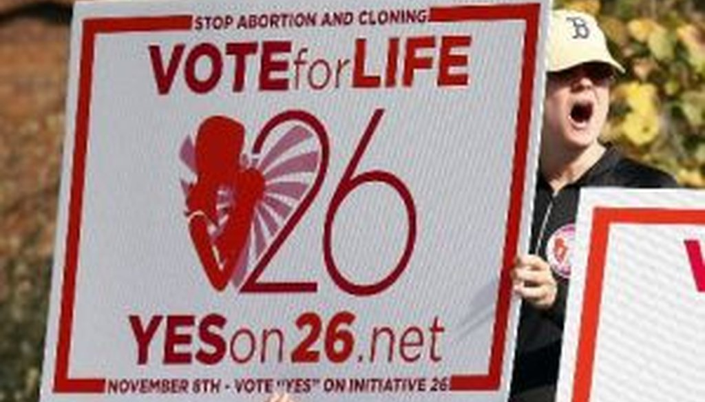 """Anti-abortion advocates placed a """"personhood"""" measure on the Mississippi ballot ..."""