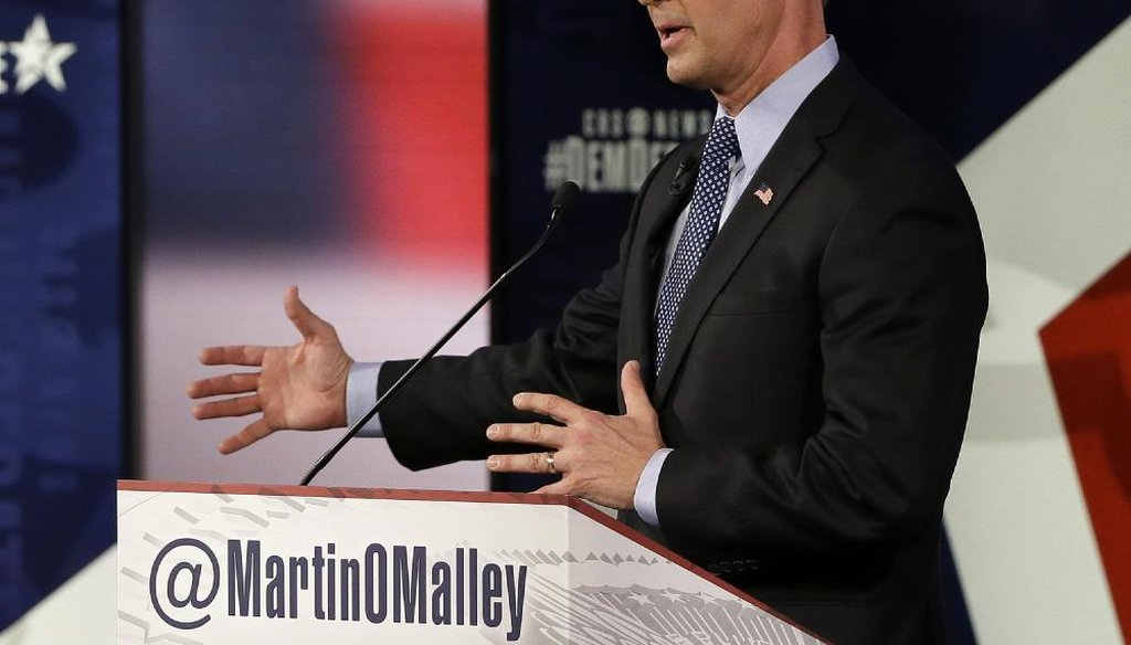 Martin O'Malley at the Iowa Democratic presidential debate. (AP)