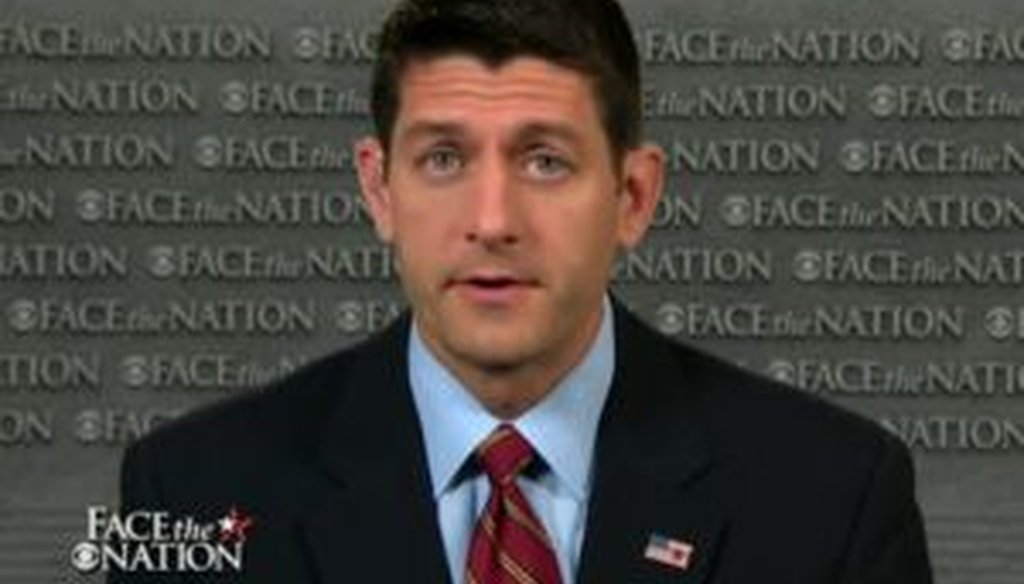 "Paul Ryan goes on the Sunday shows again this weekend. He appeared on ""Face the Nation"" on Aug. 4, 2013."