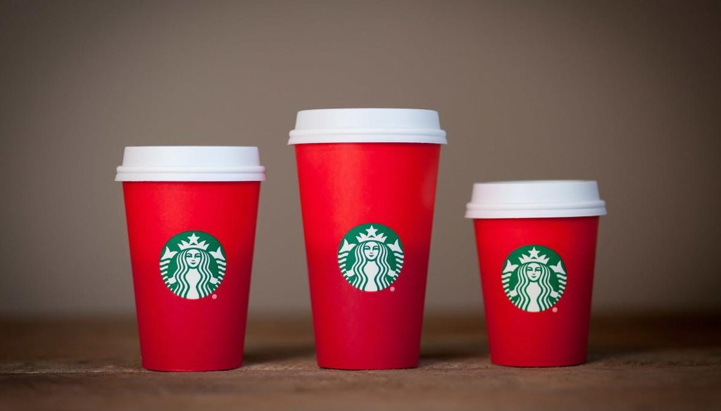 An evangelical activist decried the lack of the word Christmas on this year's holiday cups at Starbucks. (Starbucks)