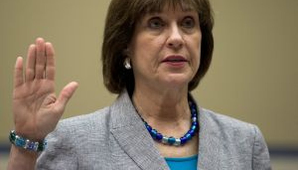 IRS official Lois Lerner is sworn in on Capitol Hill in Washington, May 22, 2013, before the House Oversight Committee hearing to investigate the extra scrutiny IRS gave to tea party and other conservative groups applying for tax-exempt status. (AP)