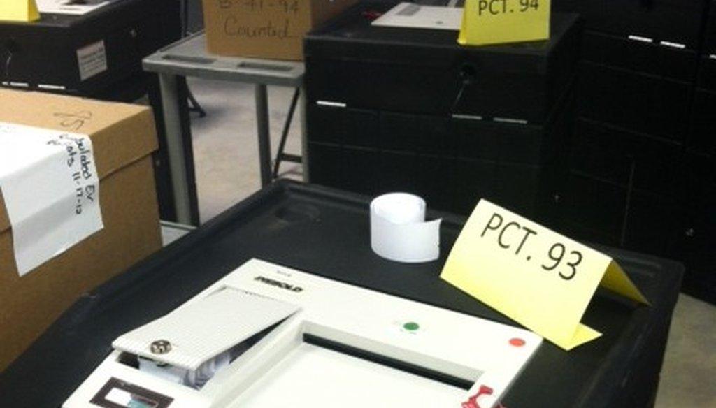 The infamous Precinct 93 ballot counter.