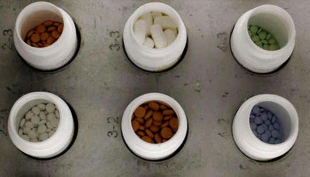 Prescription drugs at a hospital dispensary. (AP)