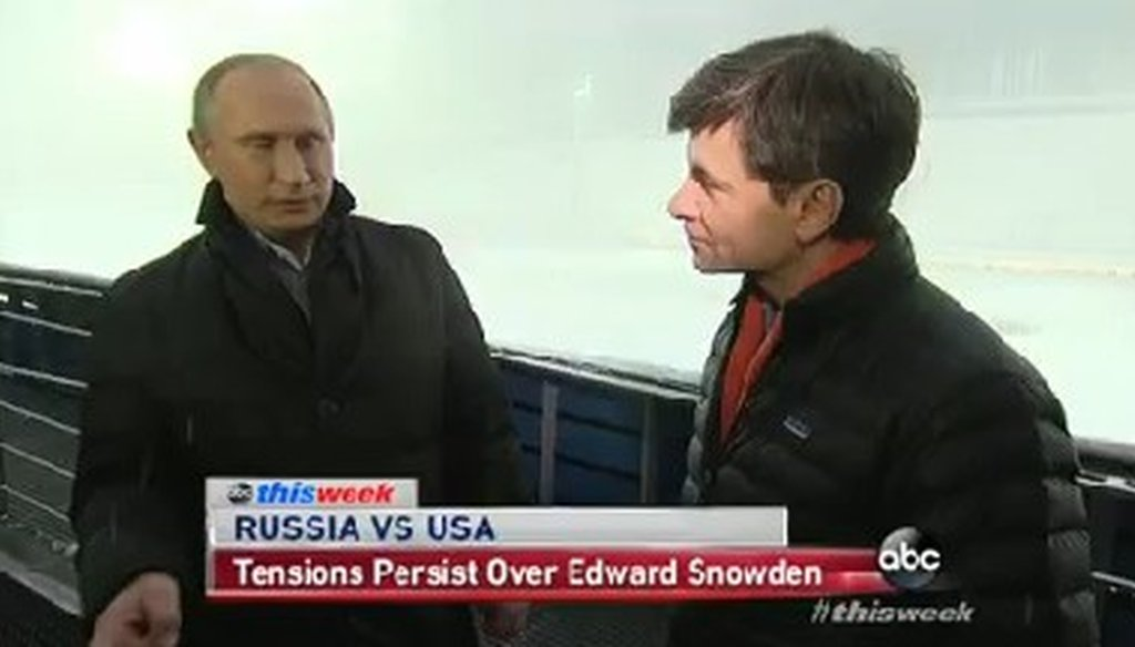 "Russian President Vladimir Putin appeared on ABC's ""This Week."""
