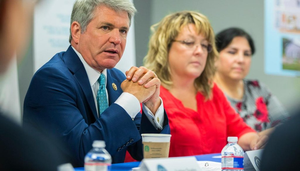 U.S. Rep. Michael McCaul speaks at a roundtable discussion in Austin in August 2019 (RICARDO B. BRAZZIELL/AMERICAN-STATESMAN)