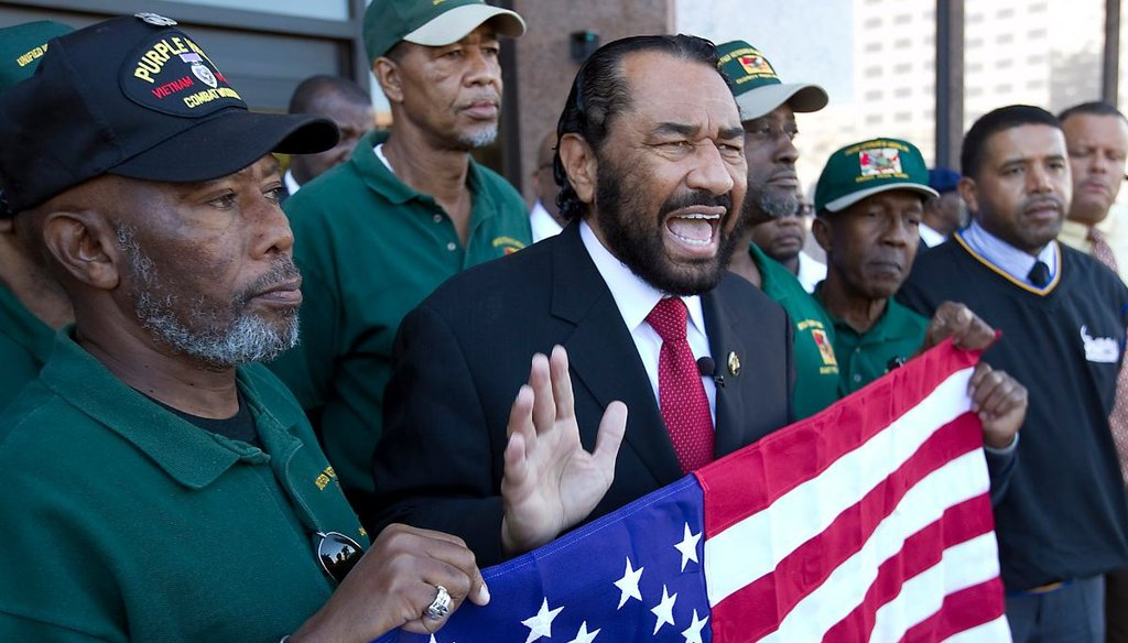 U.S. Rep. Al Green, D-Houston, has been a vocal supporter of impeachment since President Donald Trump was first elected. (Ralph Barrera/AMERICAN-STATESMAN)