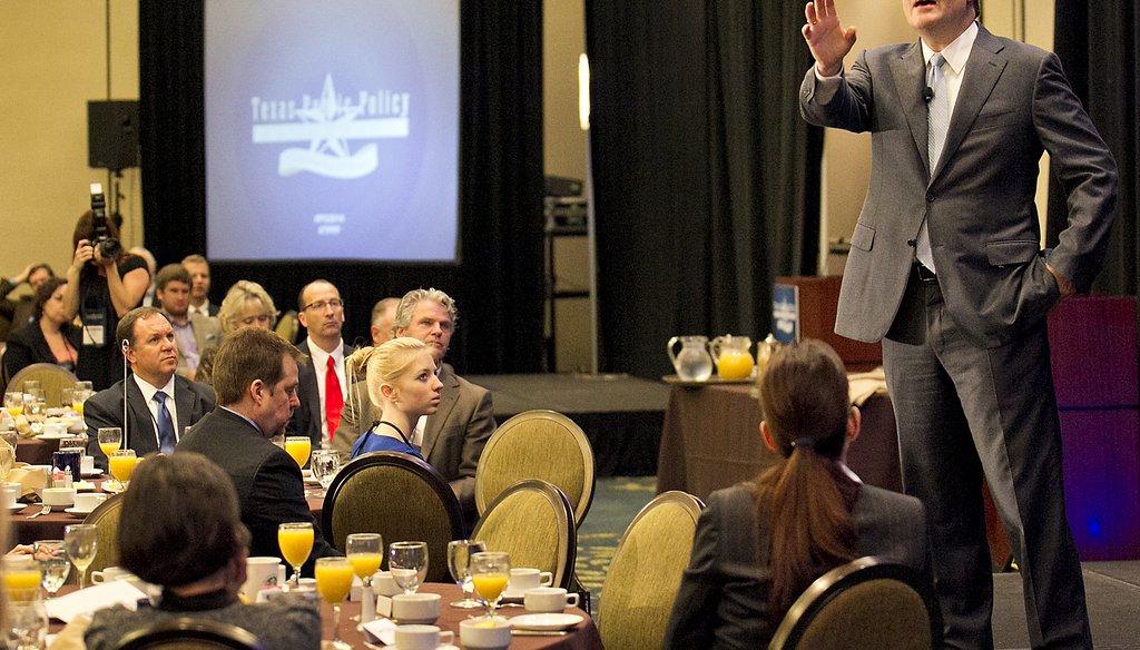 U.S. Sen. Ted Cruz addresses the Texas Public Policy Foundation forum Jan. 10, 2014, at the Sheraton in Austin. Ralph Barrera photo/Austin American-Statesman