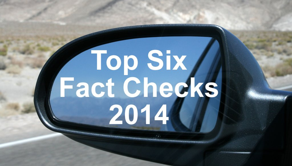 We look back at the most popular fact checks of 2014