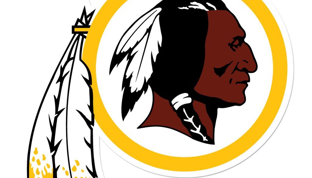 The logo of the Washington Redskins football team.