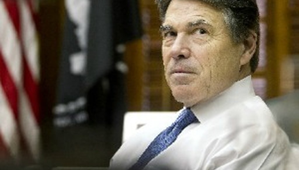 Rick Perry has kept or compromised on more than half of his campaign promises, the Perry-O-Meter says (Austin American-Statesman: Laura Skelding).